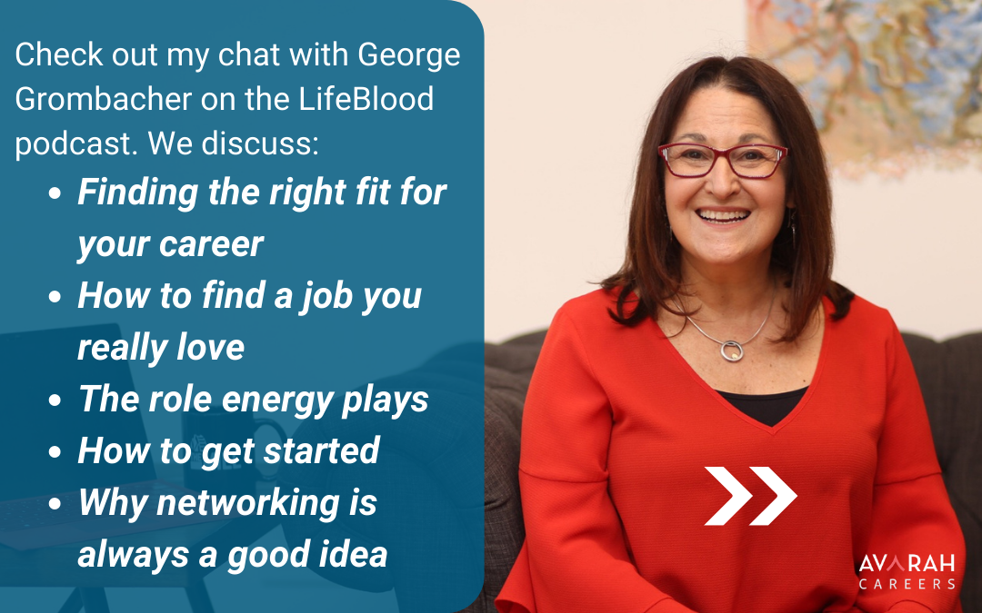 Great job hunting advice from my talk on LifeBlood with George Grombacher